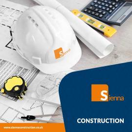 Corporate Brochure Front Cover - Hard Hat and drawing